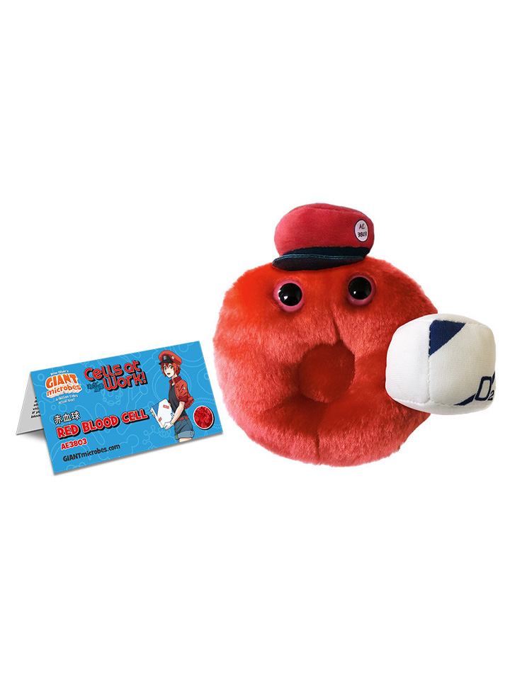 Cells at Work! X GIANTmicrobes - Red Blood Cell Plush